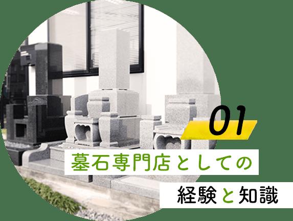 墓石専門店としての経験と知識